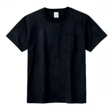 ポケットTシャツ005.ブラック