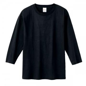 7分袖Tシャツ005.ブラック
