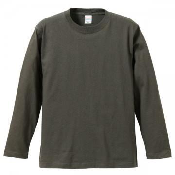 ロングスリーブTシャツ007.チャコール