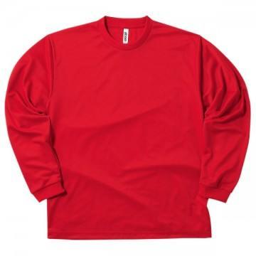 ドライロングスリーブTシャツ010.レッド