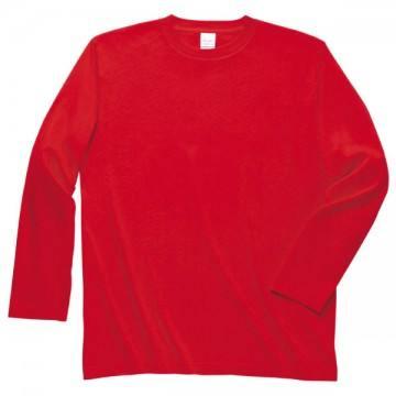ロングスリーブTシャツ010.レッド