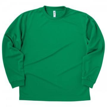 ドライロングスリーブTシャツ025.グリーン