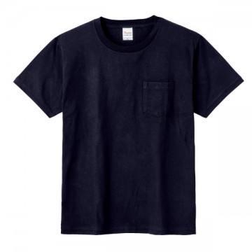 ポケットTシャツ031.ネイビー