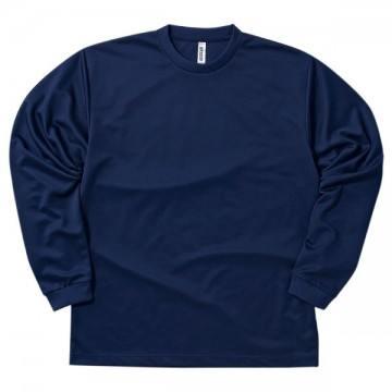 ドライロングスリーブTシャツ031.ネイビー