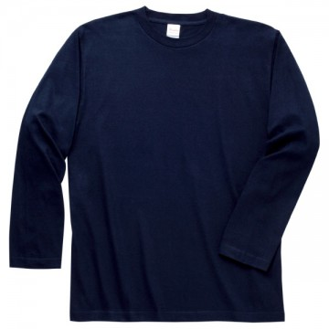 ロングスリーブTシャツ031.ネイビー
