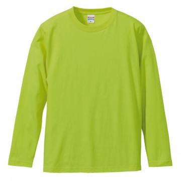 ロングスリーブTシャツ036.ライムグリーン