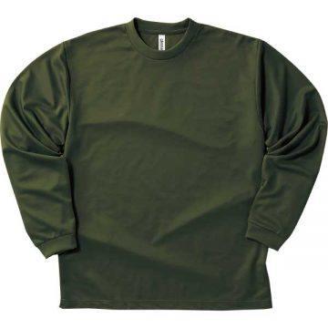 ドライロングスリーブTシャツ037.アーミーグリーン