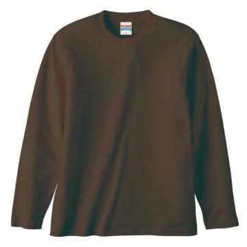ロングスリーブTシャツ052.ダークブラウン