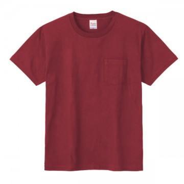 ポケットTシャツ112.バーガンディ