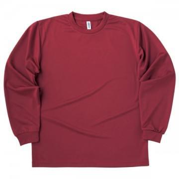 ドライロングスリーブTシャツ112.バーガンディ