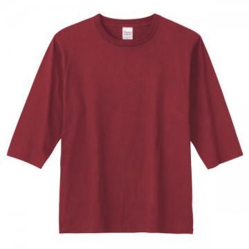 5分袖Tシャツ112.バーガンディ