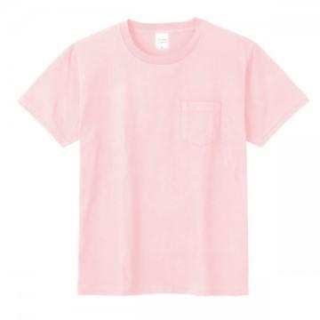 ポケットTシャツ132.ライトピンク