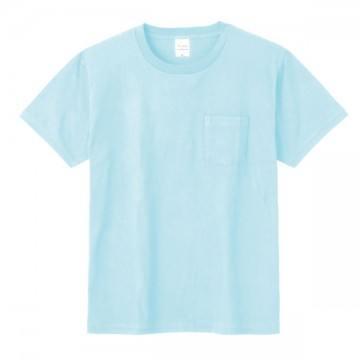 ポケットTシャツ133.ライトブルー