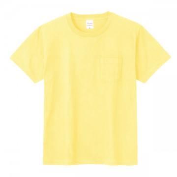 ポケットTシャツ134.ライトイエロー