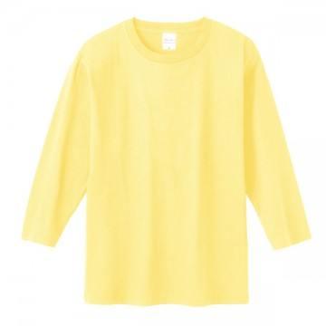 7分袖Tシャツ134.ライトイエロー