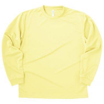 ドライロングスリーブTシャツ134.ライトイエロー