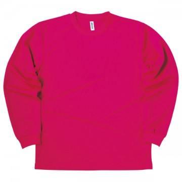 ドライロングスリーブTシャツ146.ホットピンク