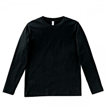 5.3オンス ユーロロングTシャツ16.ブラック