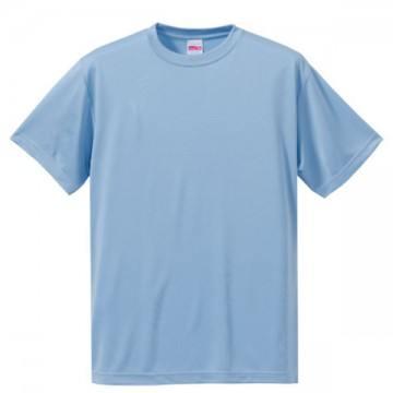 ドライシルキータッチTシャツ488.ライトブルー