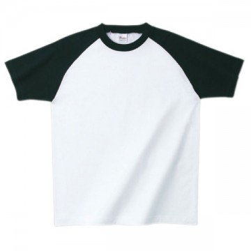 プリントスターラグランTシャツ705.ホワイト×ブラック