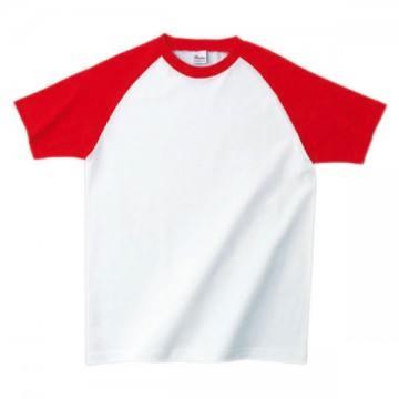 プリントスターラグランTシャツ710.ホワイト×レッド