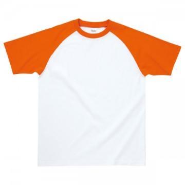 プリントスターラグランTシャツ770.ホワイト×オレンジ