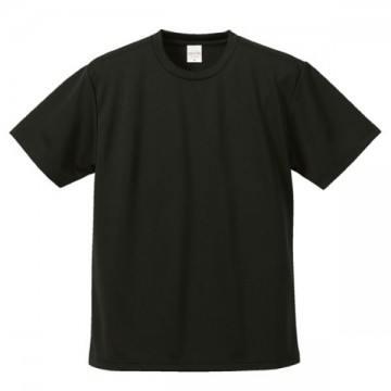 4.1オンスドライアスレチックTシャツ002.ブラック