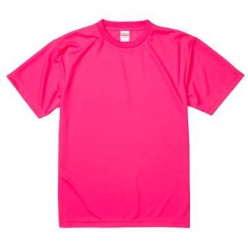 4.1オンスドライアスレチックTシャツ114.蛍光ピンク