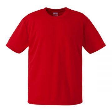 4.1オンスドライアスレチックTシャツ150.ローズレッド