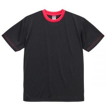 4.1オンスドライアスレチックTシャツ【在庫限り】2065.ブラック×トロピカルピンク