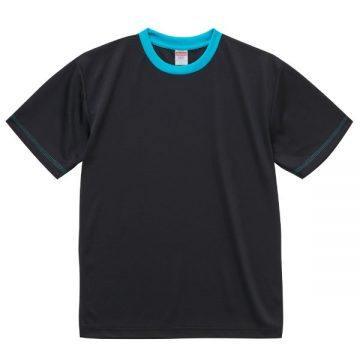 4.1オンスドライアスレチックTシャツ【在庫限り】2072.ブラック×ターコイズブルー