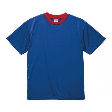 4.1オンスドライアスレチックTシャツ【在庫限り】4750.コバルトブルー×レッド