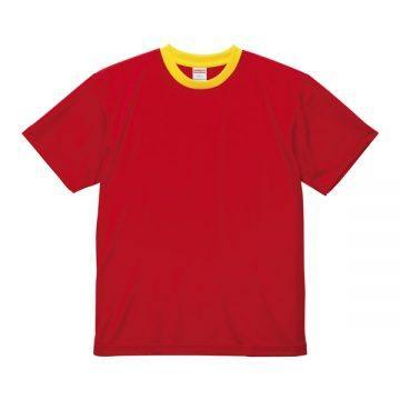 4.1オンスドライアスレチックTシャツ【在庫限り】5621.レッド×カナリアイエロー