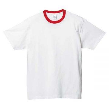 ヘビーウェイトTシャツ710.ホワイト×レッド