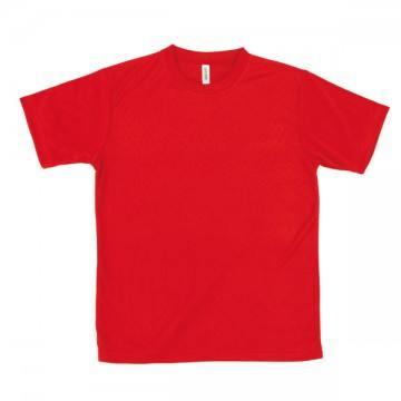 ライトドライTシャツ010.レッド