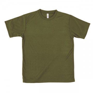 ライトドライTシャツ128.オリーブ