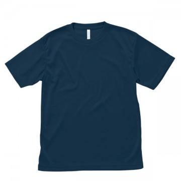 【SALE】ライトドライTシャツ8.ネイビー