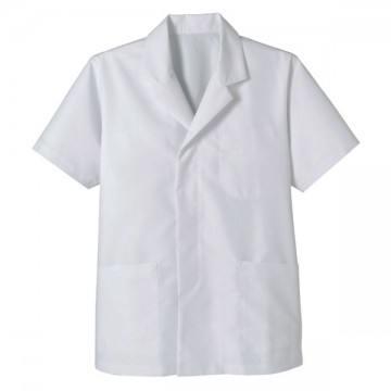 メンズ半袖和コート15.ホワイト