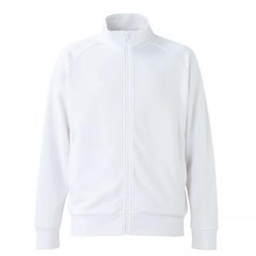 ドライジャージーラグランスリーブジャケット001.ホワイト
