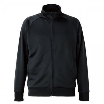ドライジャージーラグランスリーブジャケット002.ブラック