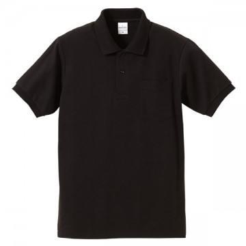 ハイブリッドポロシャツ002.ブラック