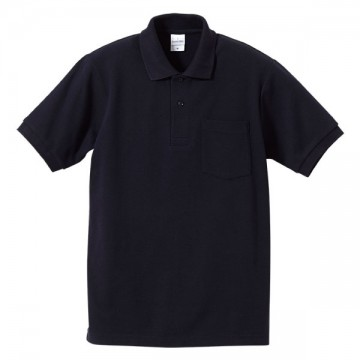 ハイブリッドポロシャツ086.ネイビー