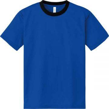 ドライTシャツ739.ロイヤルブルー×ブラック