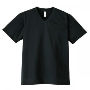 4.4オンスドライVネックTシャツ005.ブラック