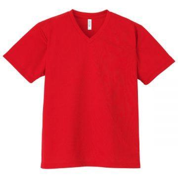4.4オンスドライVネックTシャツ010.レッド