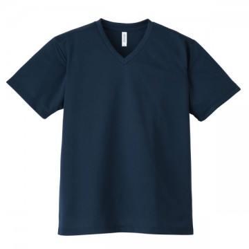4.4オンスドライVネックTシャツ031.ネイビー