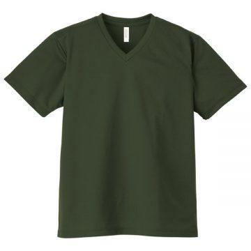 4.4オンスドライVネックTシャツ037.アーミーグリーン
