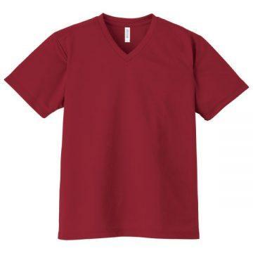 4.4オンスドライVネックTシャツ112.バーガンディ