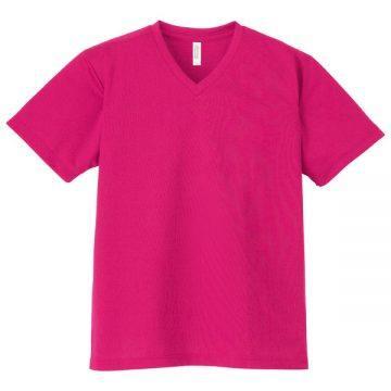 4.4オンスドライVネックTシャツ146.ホットピンク