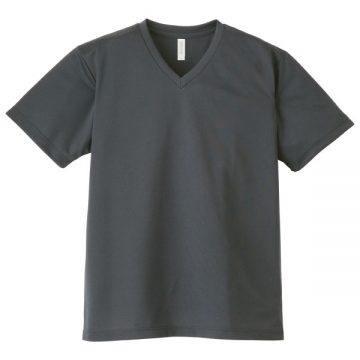 4.4オンスドライVネックTシャツ187.ダークグレー